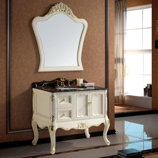 Muebles blancos antiguos de lujo del cuarto de ba o - Muebles antiguos para banos ...