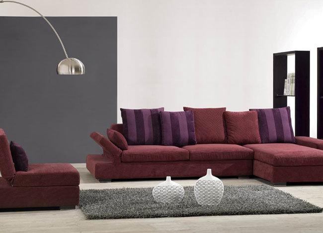 Muebles de la sala de estar sof moderno de la tela del for Muebles espanoles modernos