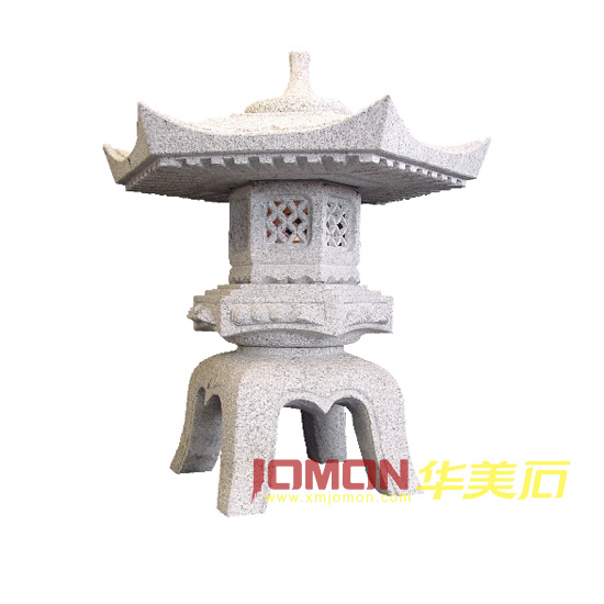 Lanterne japonaise en pierre de yukimi de jardin de granit for Lampe japonaise exterieur