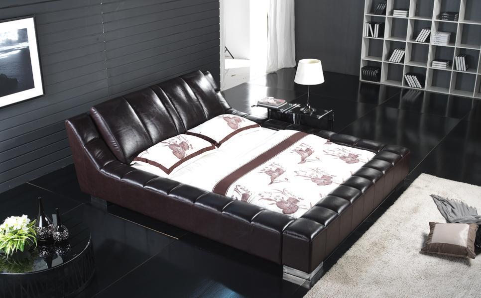 연약한 가죽 침대 침실 가구 세트 – 연약한 가죽 침대 침실 가구 ...