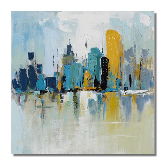 peinture l 39 huile peinte la main de scapes de ville abstraite peinture l 39 huile peinte la. Black Bedroom Furniture Sets. Home Design Ideas