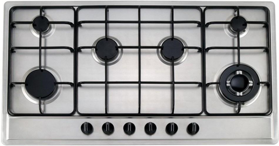 Estufa de gas incorporada de seis hornillas ck601 for Estufas de cocina de gas