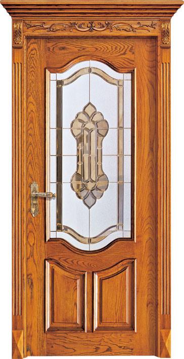 El cristal dise a las puertas de entrada de madera for Puertas de entrada de madera baratas
