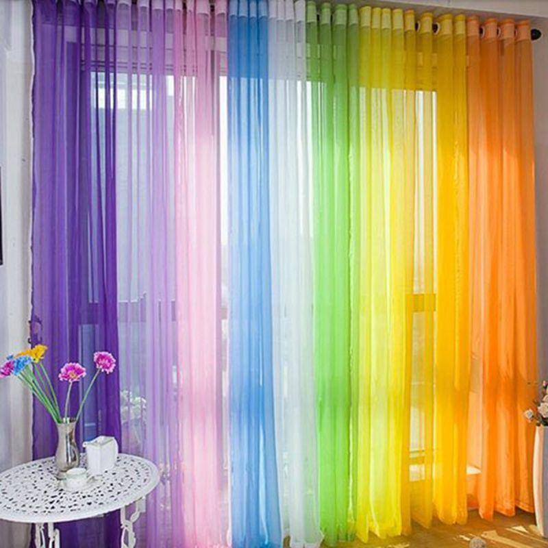 Tela de la gasa de la cortina de la gasa del color del - Cortinas de gasa ...