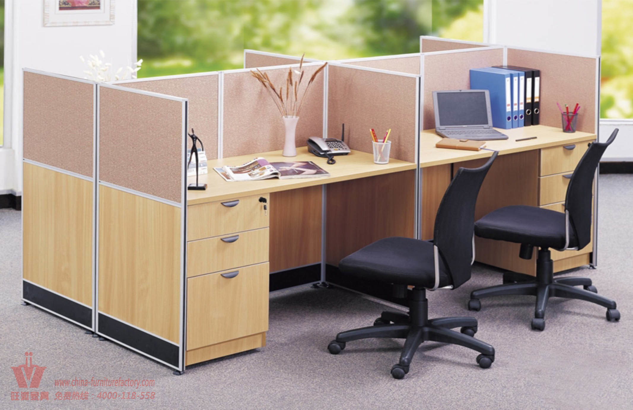 poste de travail moderne de bureau avec le service de bon. Black Bedroom Furniture Sets. Home Design Ideas