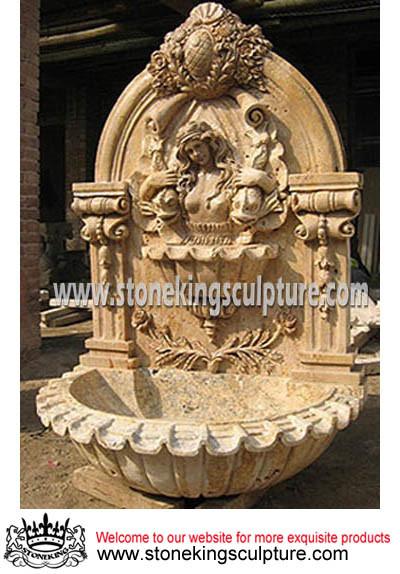 Fuente del fuente de pared de piedra de m rmol del jard n - Fuentes de pared de piedra ...
