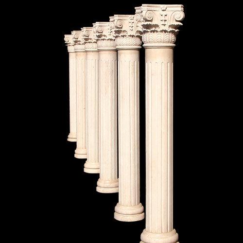 Granite Stone Columns : Marble column stone granite sk