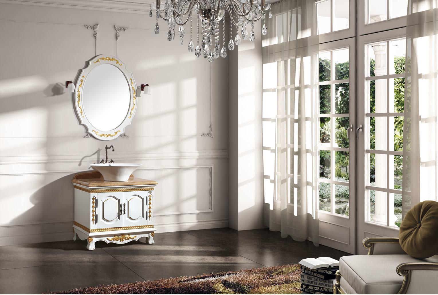 Thailand een een groot houten antiek ijdelheid kabinet van de badkamers fs b616 thailand - Douchekamer model ...