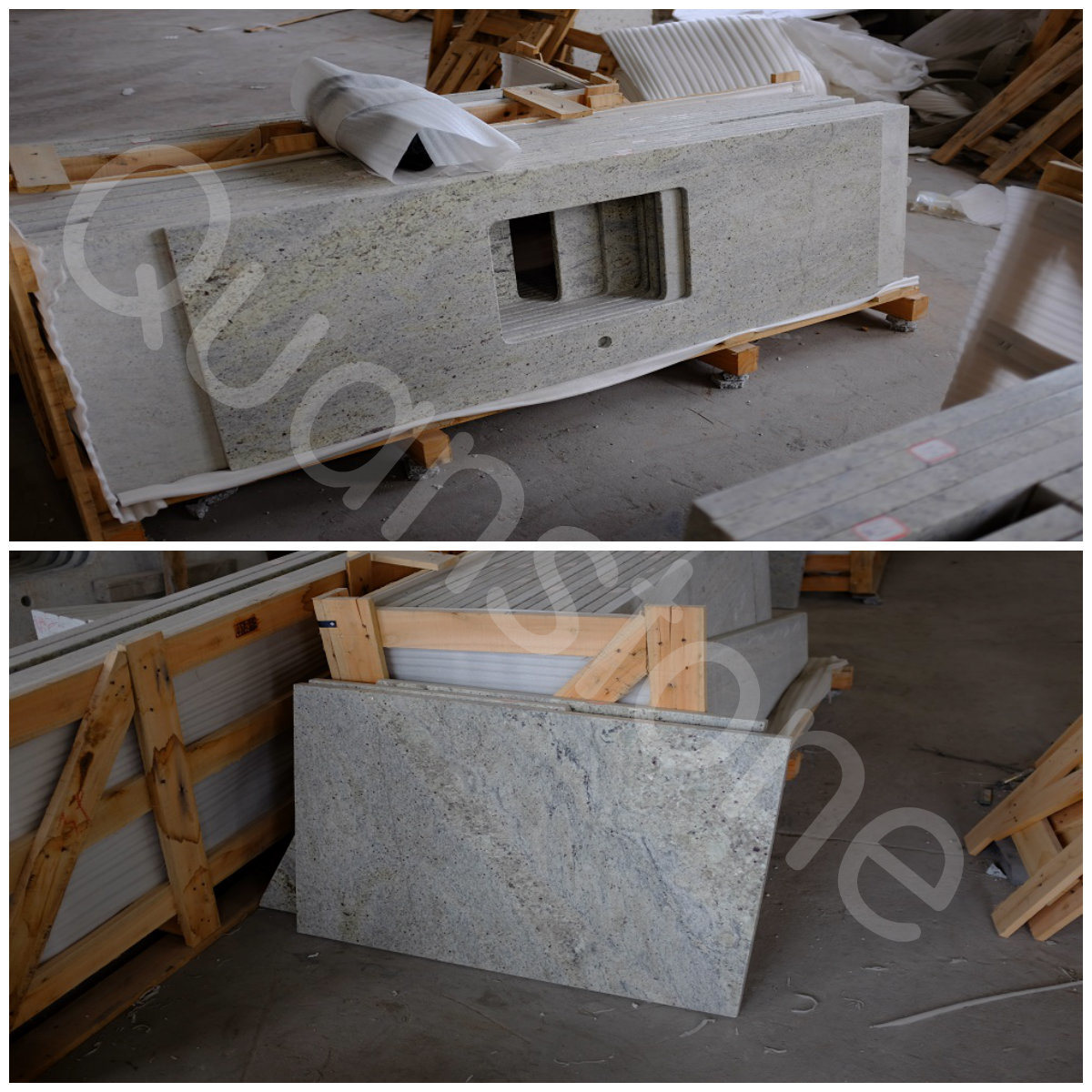 Countertops van het Graniet van Kashmire het Witte/Eiland van de ...