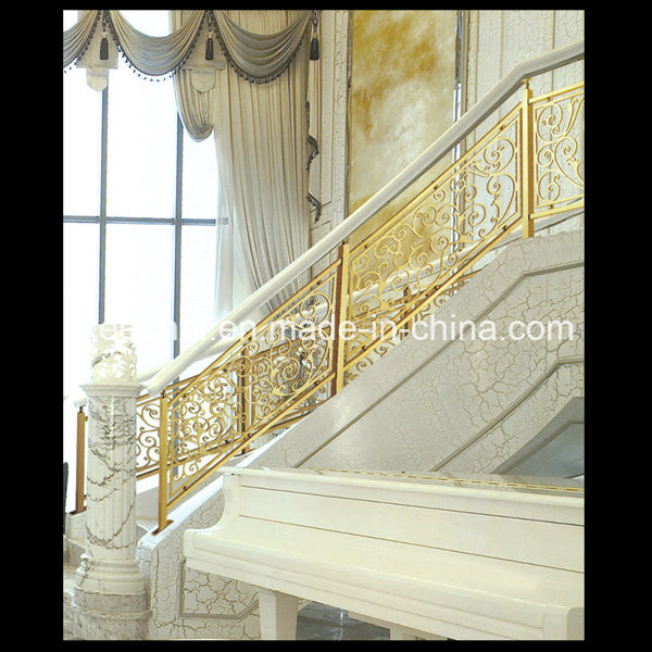 balustrade en aluminium d 39 int rieur de luxe d 39 escalier de d coration de villa photo sur fr made. Black Bedroom Furniture Sets. Home Design Ideas