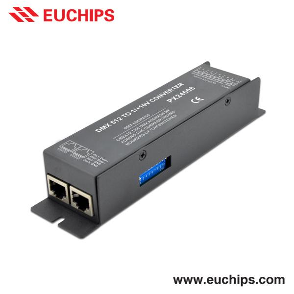 DMXへの0-10V Analog Signal Converter、DMX Dimmer Controller (PX24608)