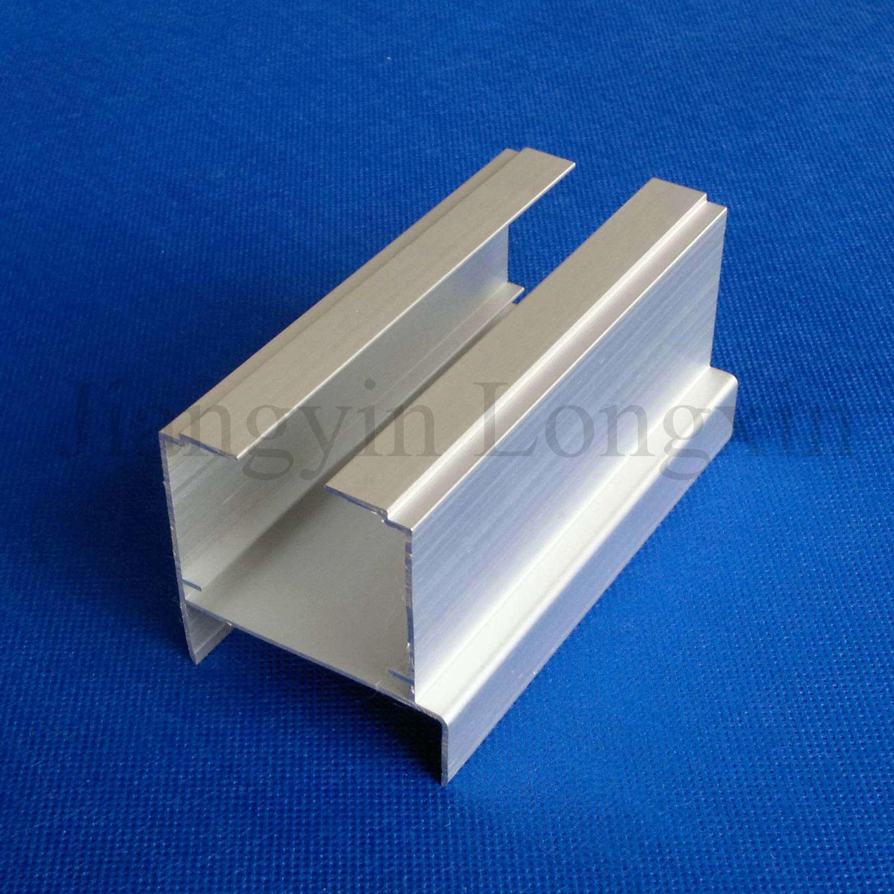 Foto de perfil de aluminio anodizado natural como carril - Perfil aluminio anodizado ...