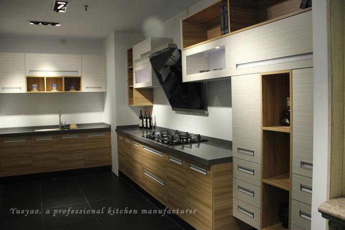 Muebles de madera laminados de la cocina del dise o for Muebles de cocina de madera modernos