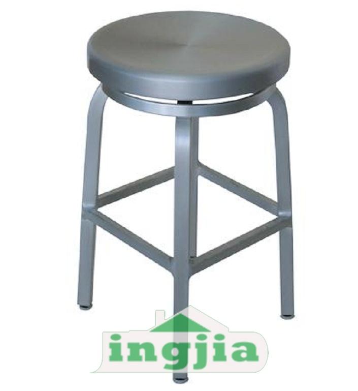 둥근 회전하는 선술집 스테인리스 금속 강철 작은 술집 의자 (JH ...