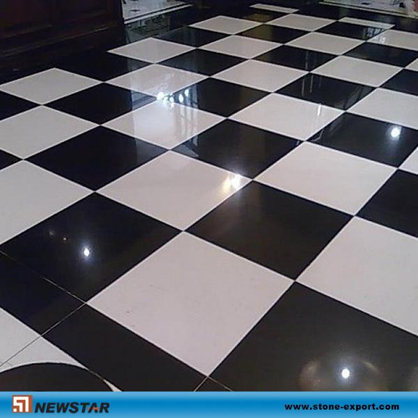 Blanco y negro azulejo del granito blanco y negro for Azulejo a cuadros blanco y negro barato