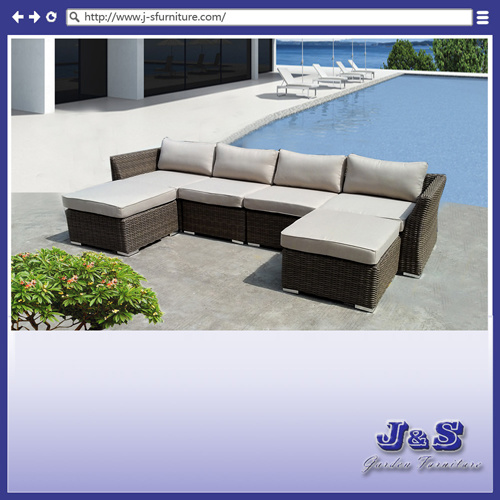 Sofa ext rieur de rotin de patio meubles en osier de for Meuble de patio