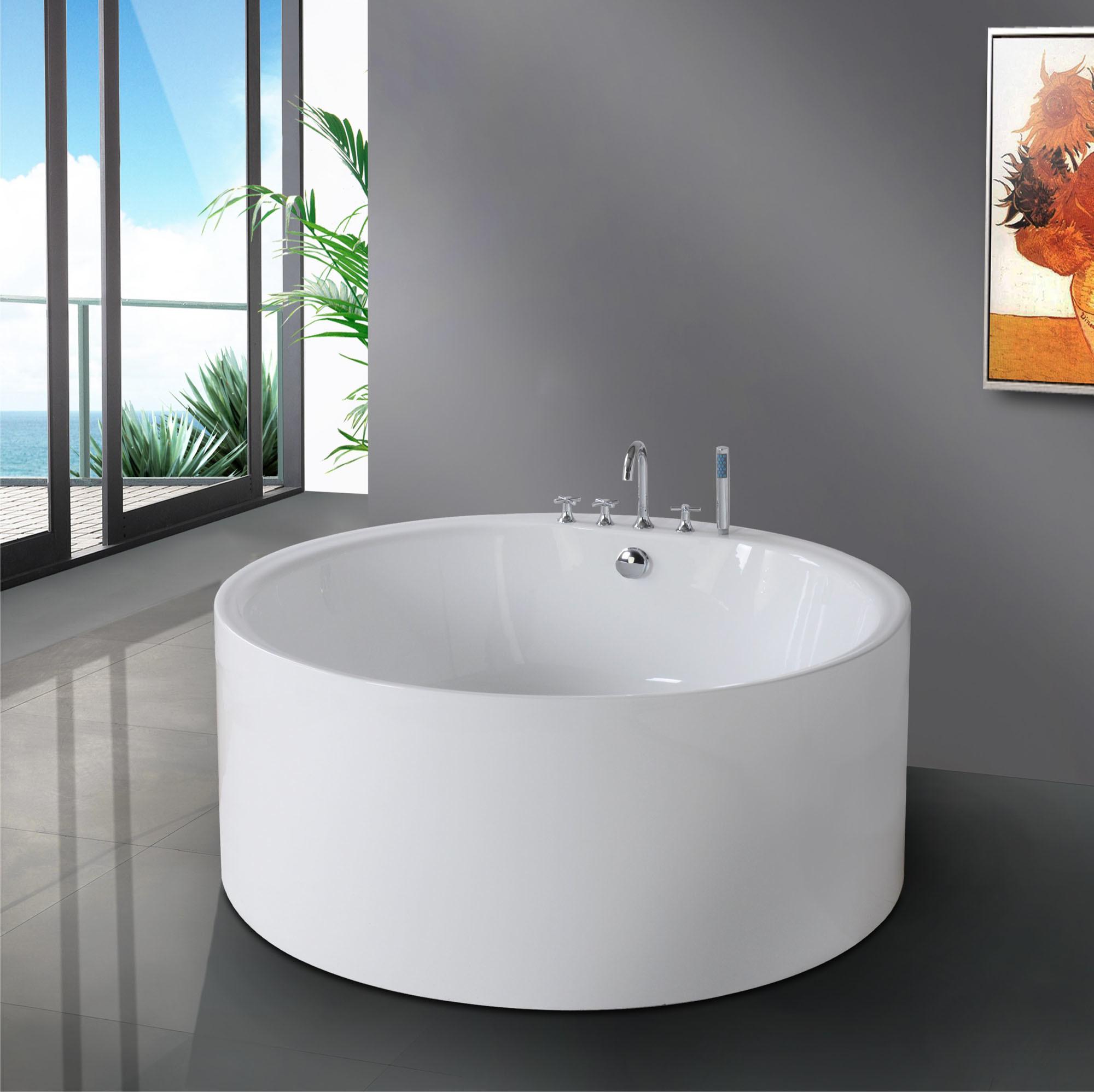 Vasca doccia rotonda vasche idromassaggio da bagno sopravasca angolare completo - Vasca da bagno rotonda ...
