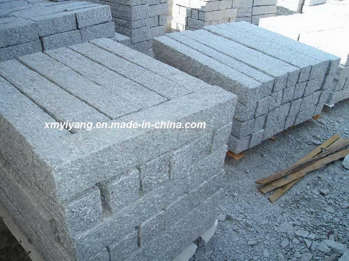 Piedra de granito gris kerbstone cubestone pasos for Piedra para granito