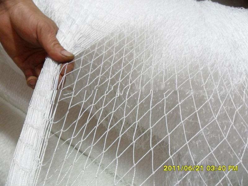 White multifilament single knot nylon fishing nets white for How to make a fishing net