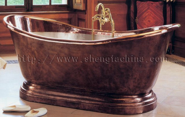 Tinas De Baño Tamanos:Tina de baño de cobre (SFCT005) – Tina de baño de cobre (SFCT005