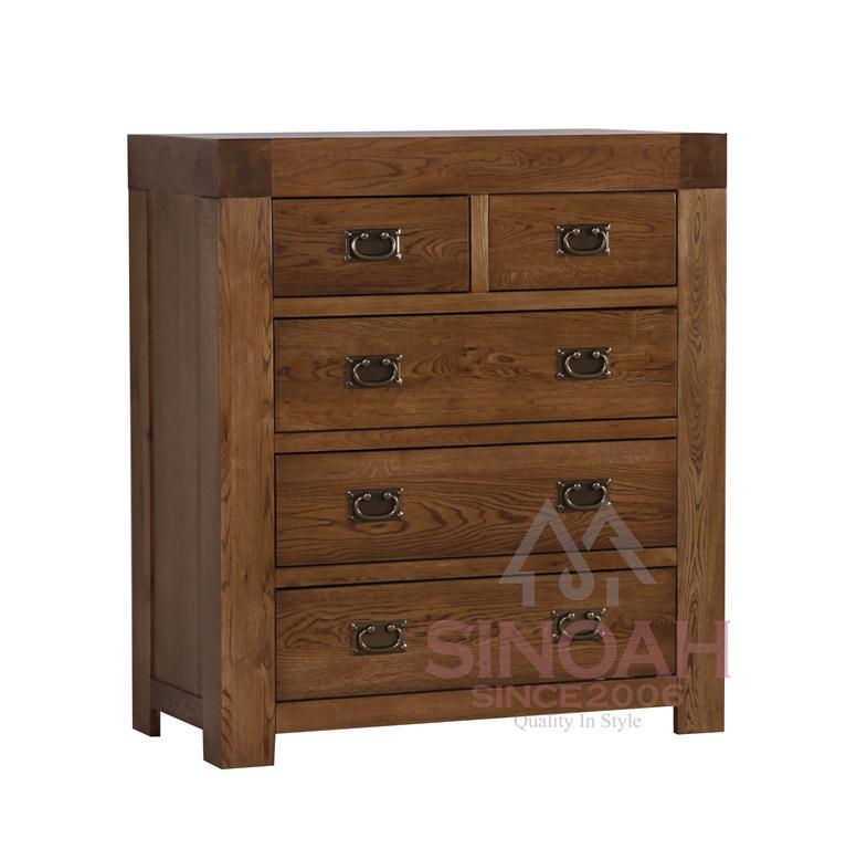 Stevige eiken houten 2 het meubilair van de slaapkamer van meer dan 3 ladenkast rc2o3 - Meubilair van de ingang spiegel ...