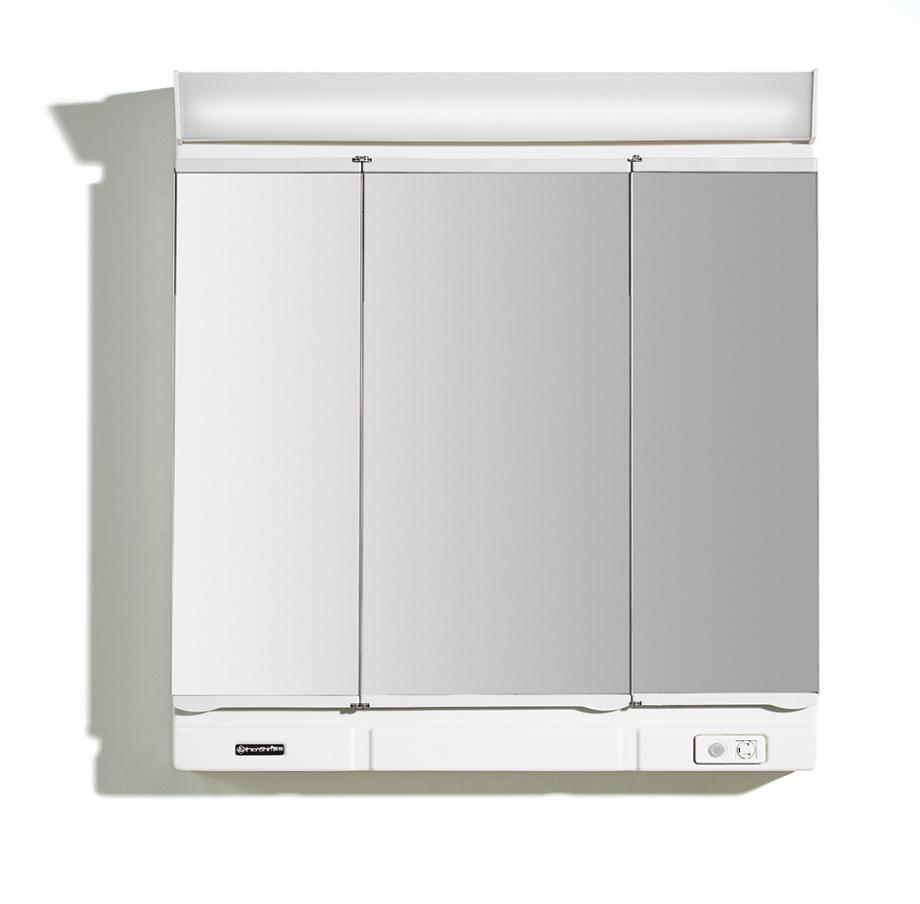 Miroir de salle de bains de triple porte cabinet de for Miroir de porte