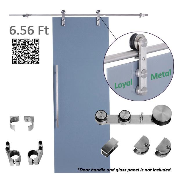 Acier inoxydable 304 bross porte coulissante en verre et mat riel acier inoxydable 304 bross for Porte coulissante metal avignon