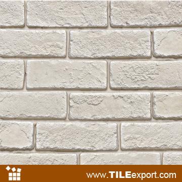 ladrillo de piedra artificial apilado hecho a mano de la arcilla del color blanco lpz u ladrillo de piedra artificial apilado hecho a mano de la