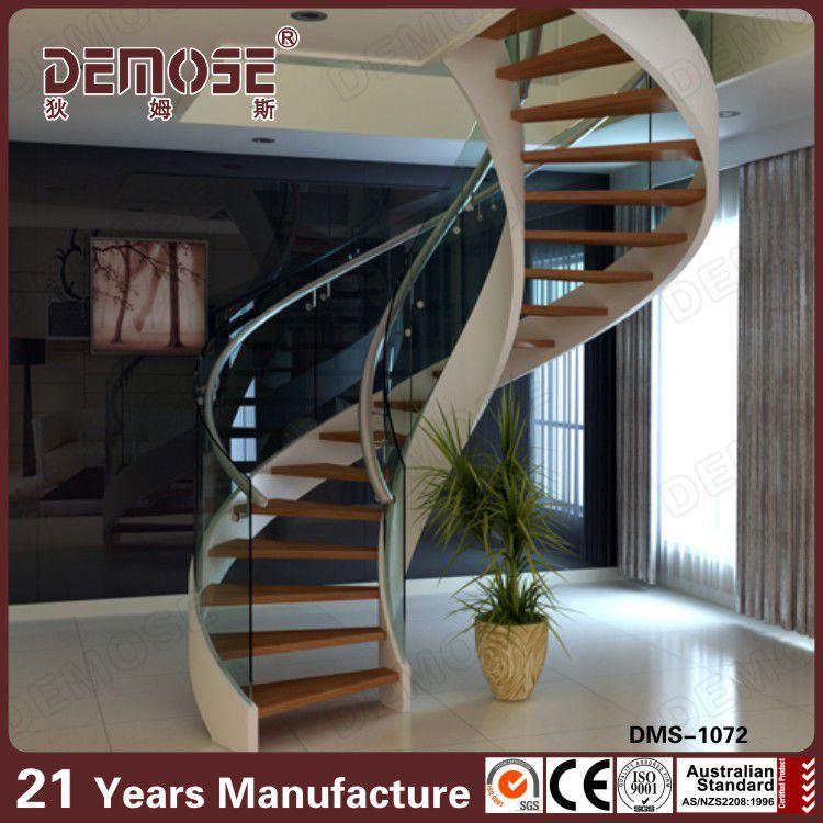 interiores de vidrio escaleras espirales para espacios pequeos dms