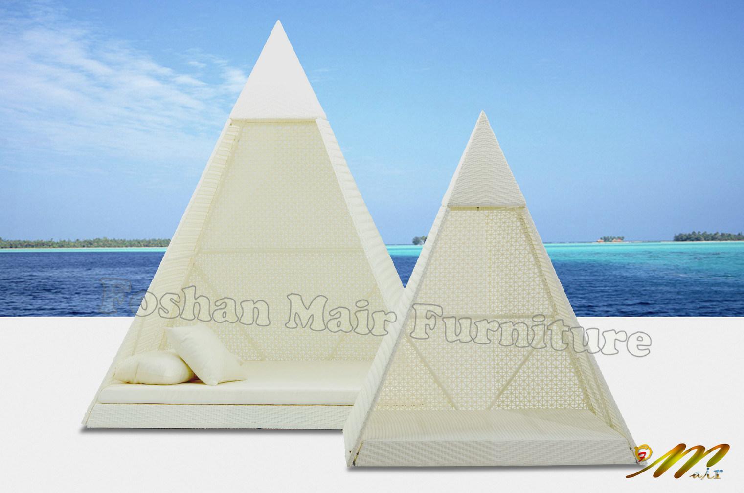 옥외 가구, 정원 가구 세트, 백색 피라미드 침대겸용 소파 소파 ...