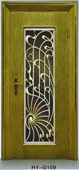 Targeta de puerta del metal resistente hy g109 targeta for Puertas de metal con diseno