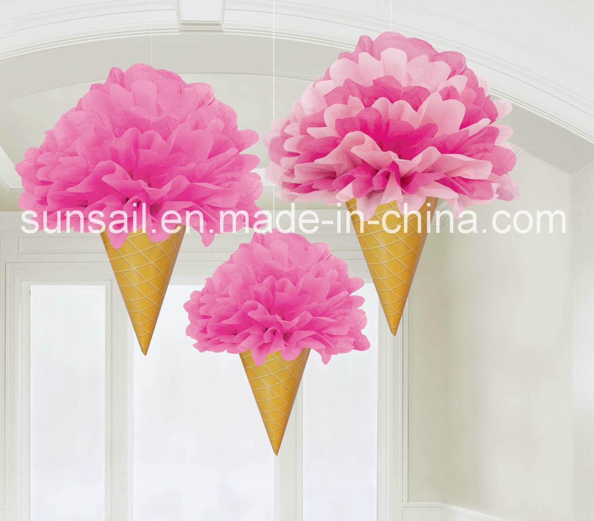 Decorazioni di carta del cono di gelato del tessuto – Decorazioni ...