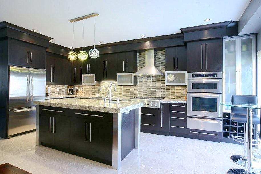 High gloss junta negro acr lico para gabinetes de cocina for Gabinetes de madera para cocina pequena