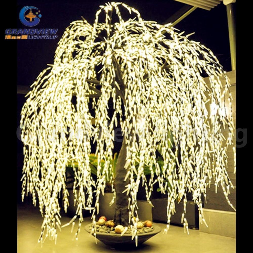 rbol de sauce iluminado tronco real de la mirada del tronco led hacia fuera puerta artificial luces del rbol de navidad