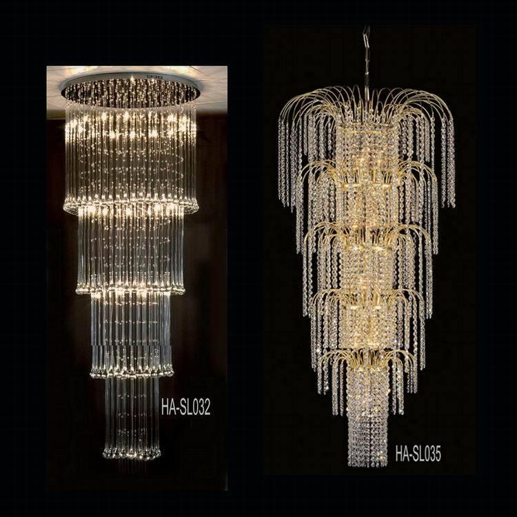 lampe pendante en cristal de cage d 39 escalier ha sl027 8 lampe pendante en cristal de cage d. Black Bedroom Furniture Sets. Home Design Ideas