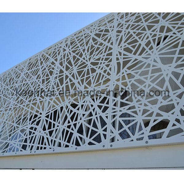 Panneau moderne en aluminium perfor de fa ade de b timent for Laser sur facade