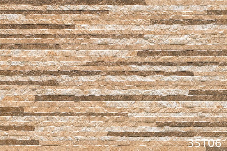 Foto de telha de pedra cer mica r stica da parede 3d for Ceramica pared exterior