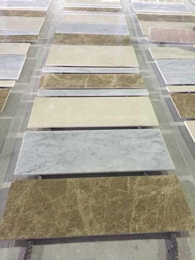 Mattonelle di pavimento di marmo beige cinesi bianche chiare di Emperador Carrara – Mattonelle ...
