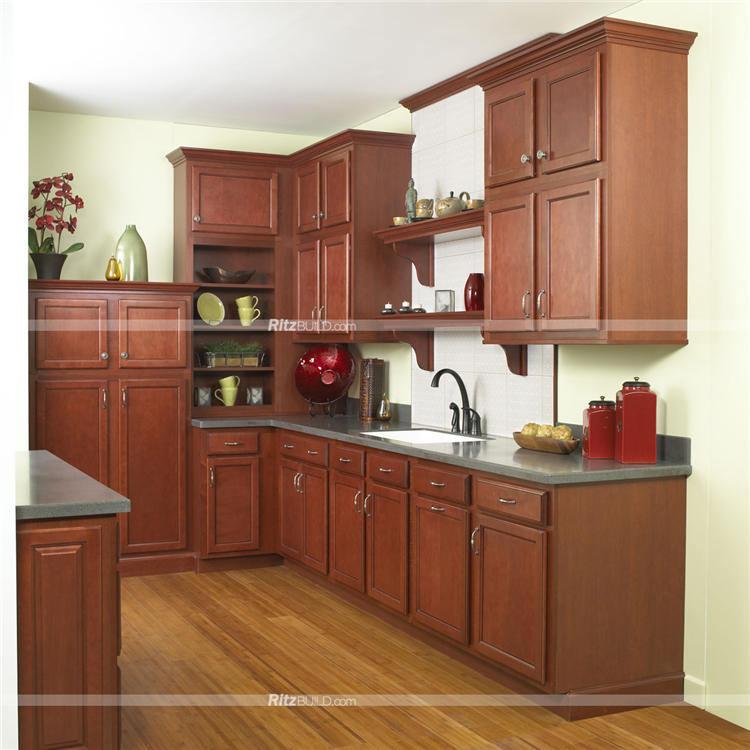 Foto de modular moderno muebles cocina con vino de color for Colores para gabinetes de cocina
