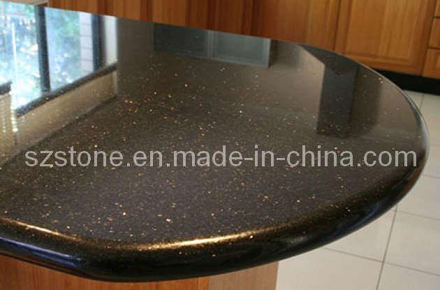 black naturel galaxy granite countertops pour kitchen application black naturel galaxy granite countertops pour kitchen application fournis par xiamen - Marbre Galaxy Cuisine
