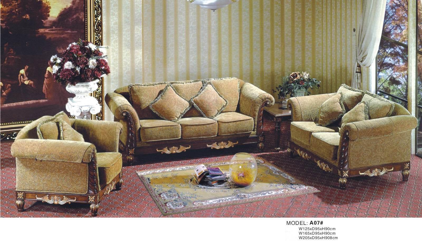 Sof de mueble europa de la sala de estar a07 sof de - Muebles de salita de estar ...