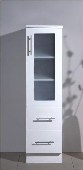 Cabinet de stockage blanc debout libre pratique de salle for Cabinet de salle de bain