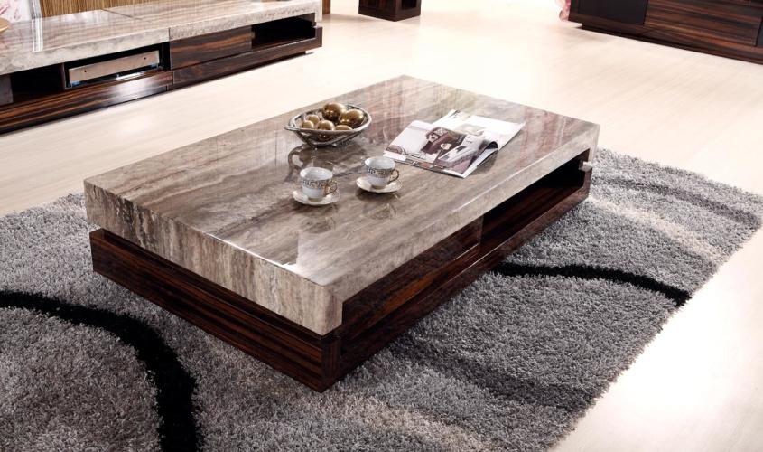Mesa de centro y tabla de extremo superiores de m rmol k - Mesas de centro marmol ...