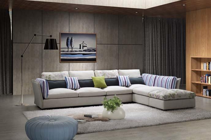 Sof s italianos modernos da tela da mob lia sof luxuoso for Sofas tela modernos