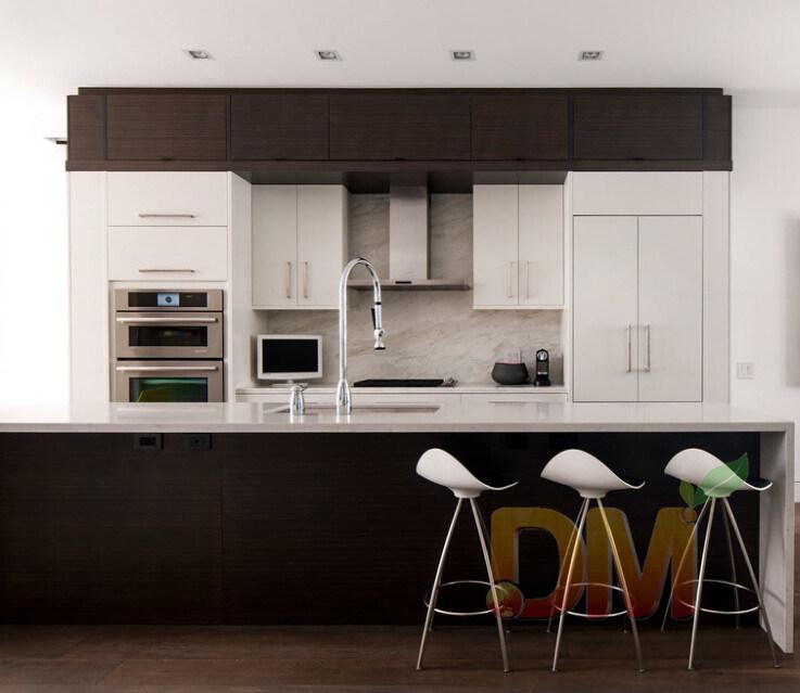 Gabinetes de cocina modernos del café del gabinete de cocina del PVC