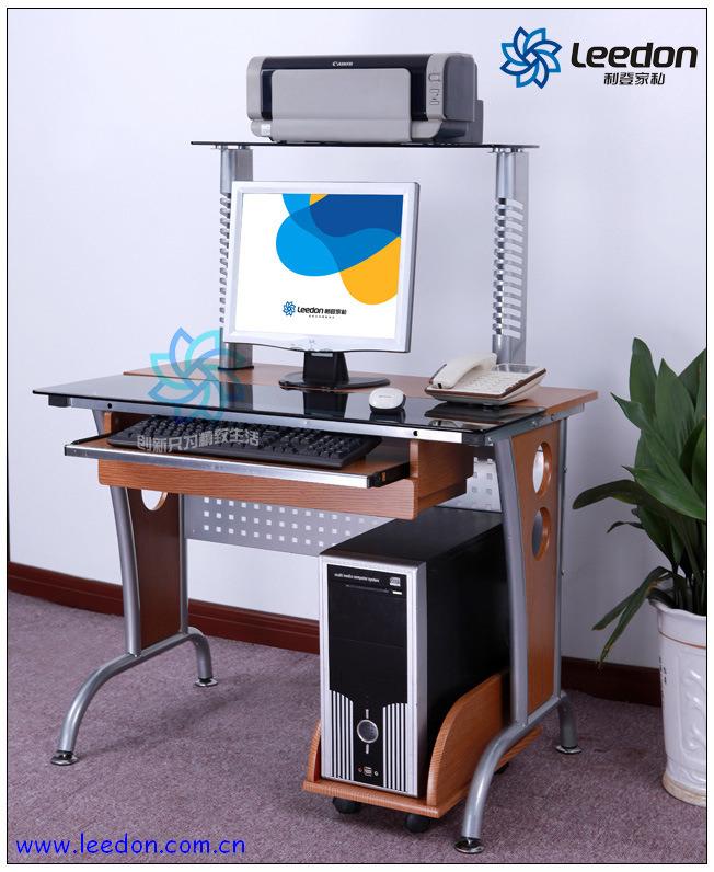 Tabla de la computadora muebles de cristal de la for Lista de muebles de oficina