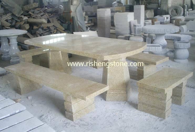 Vector del granito g682 banco de piedra muebles de for Bancos de granito para jardin