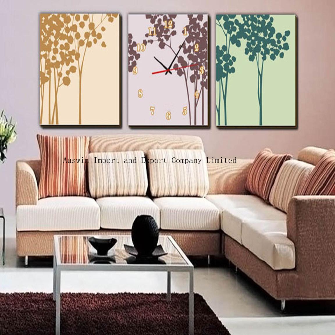 Cuadros exquisitos de la pared del arte con el reloj hz 007 cuadros exquisitos de la pared - Cuadro para pared ...