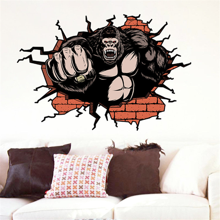 Sticker mural amovible 3d photo sur fr made in for Collant mural francais