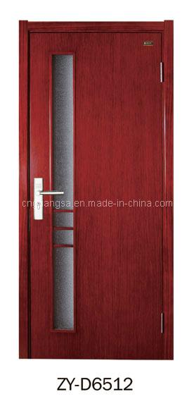 Puerta de madera interior con el vidrio puertas de madera for Vidrios para puertas de madera
